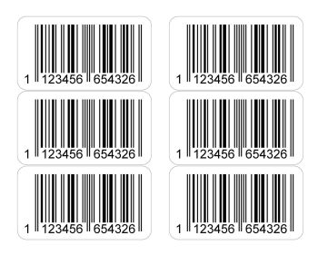 EAN Printed Barcode Number Stickers - 20,000 Sticky Labels