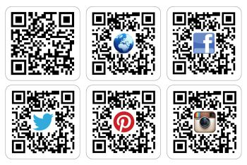 QR Code Printed Stickers - 1000 Sticky Labels with optional logo