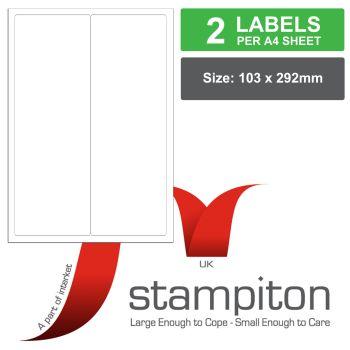 Stampiton Address Labels 500 A4 sheets 2 labels per sheet