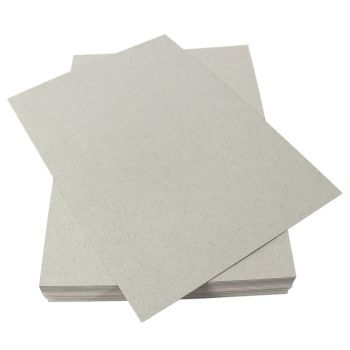 100 A4 Packing Cards Stiifeners Grey Craft Board - 315gsm