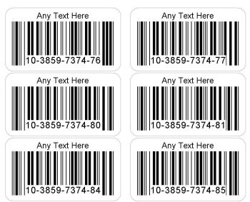 Printed Barcode Number Stickers - 1000 Unique Personalised Sticky Labels