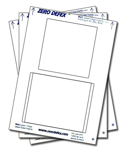 jewel case inserts template - 50 zero defex matt cd jewel case inserts zdl4006