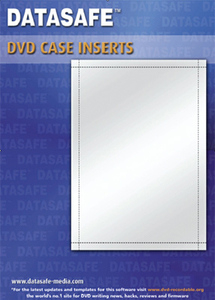 250 datasafe matt dvd case inserts create your own dvd covers