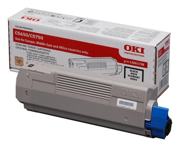 OKI C5650/C5750 Black Toner p/n 43865708
