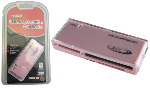 BCL USB 2.0 Memory Card Reader / Writer - Pink - SD/SDHC/MMC/MS/CF