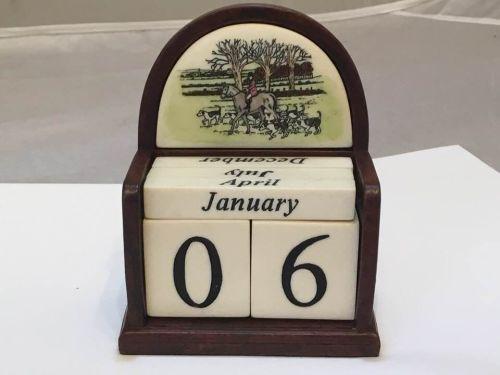 Perpetual Calendar - Hunting Was £10.00