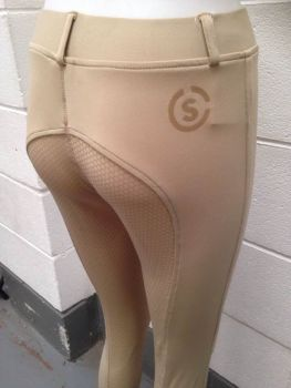 Silicone Riding Tights Beige