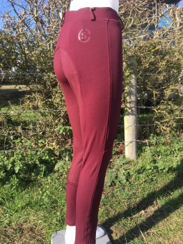 Sheldon Silicone Riding Tights Plum