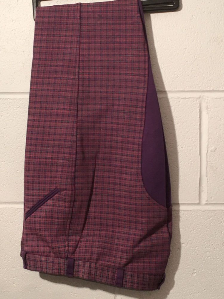 Purple Check Jods