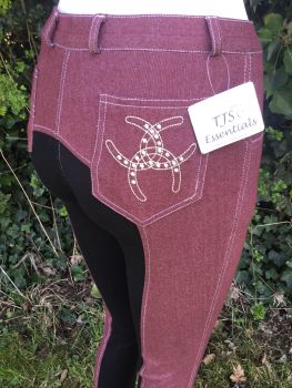 Knitted Denim Jods Plum