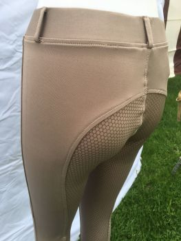 Sheldon Silicone Riding Tights - Wood