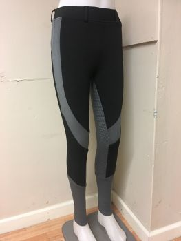 Gemini Silicone Riding Tights - Black/Grey