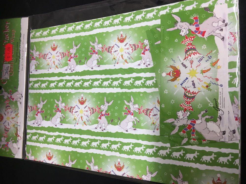 Christmas Cracker  gift wrap Was £2.00