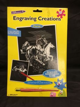 Engraving Creations Running Horses Was £3.00