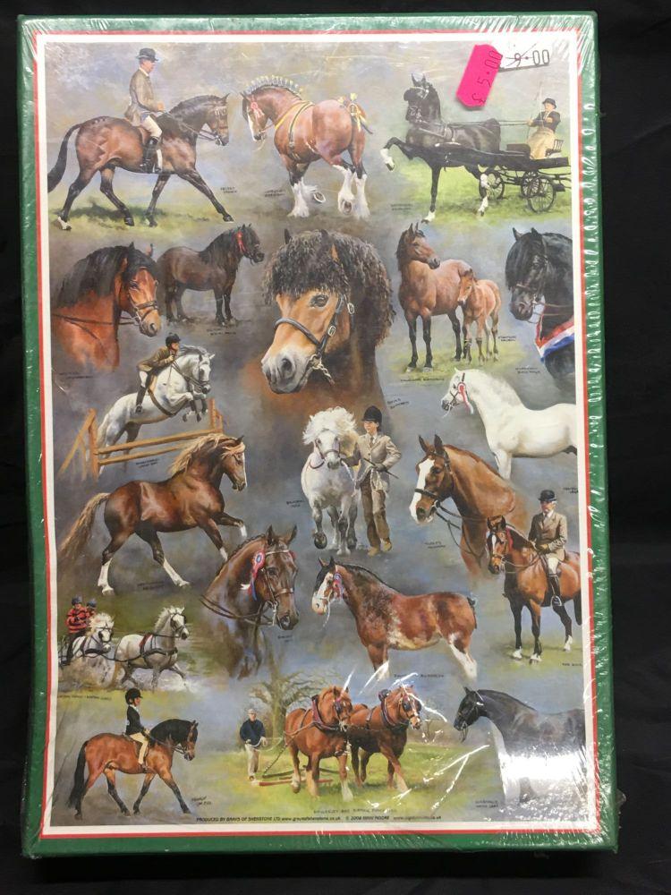 Horse breeds 500 piece jigsaw Was £9.00