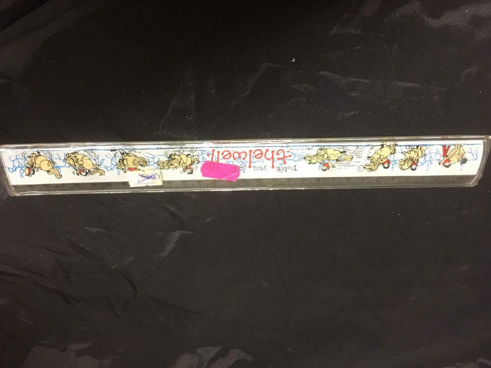 Thelwell White Ruler Was £1.00