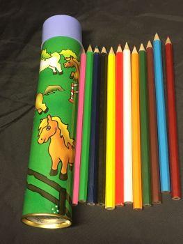 Metal pencil case and pencils  Was £4.50