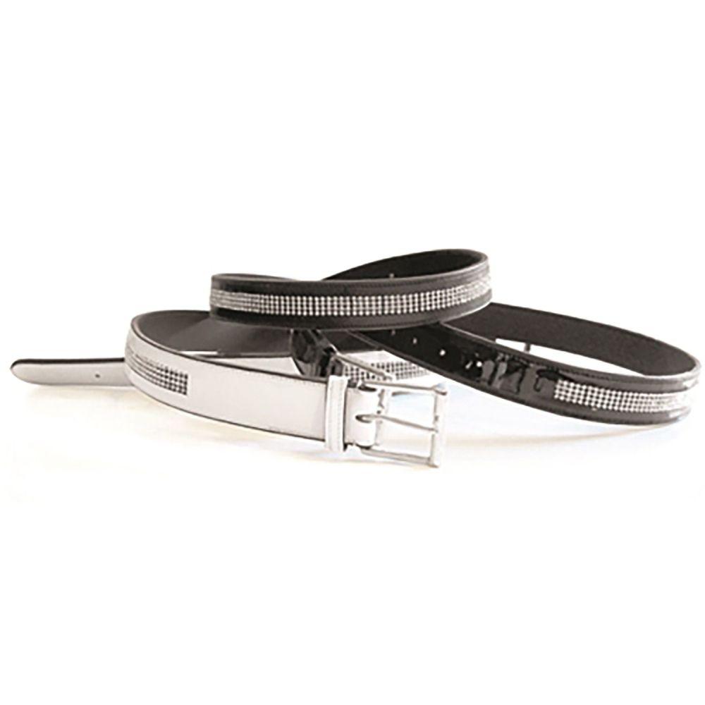 Mark Todd Patent Leather Diamante Belt