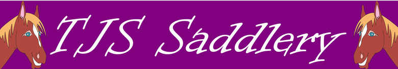 TJS SADDLERY, site logo.