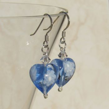 Blue Millefiori Earrings - MGE10m