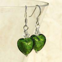 Light Emerald White Gold Earrings - MGE3le