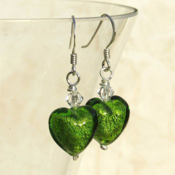 Light Emerald White Gold Earrings