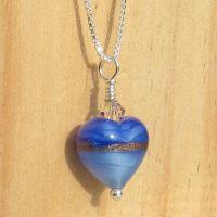 Provence Blue Gold Murano Pendant