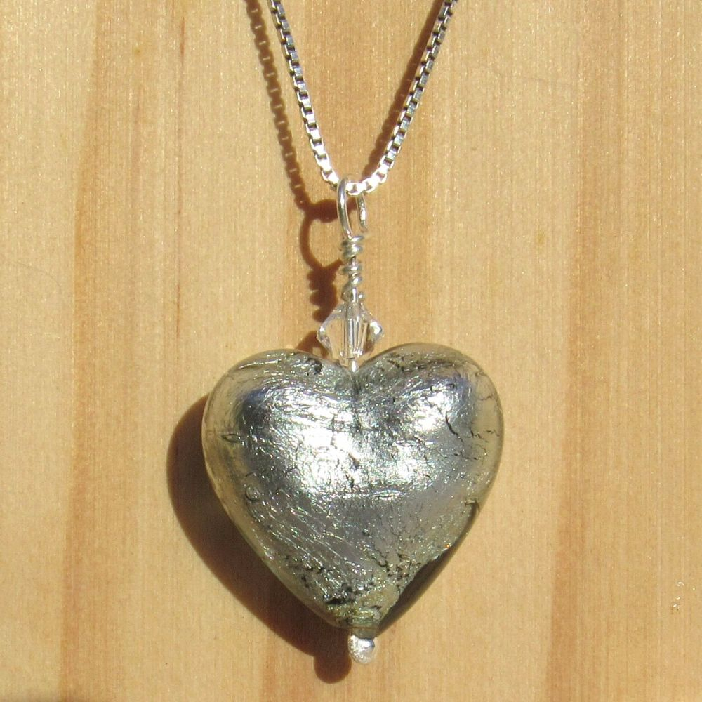 Silver 18mm Heart Necklace