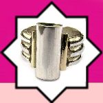 <!-- 034 -->Silver with Gold Rings