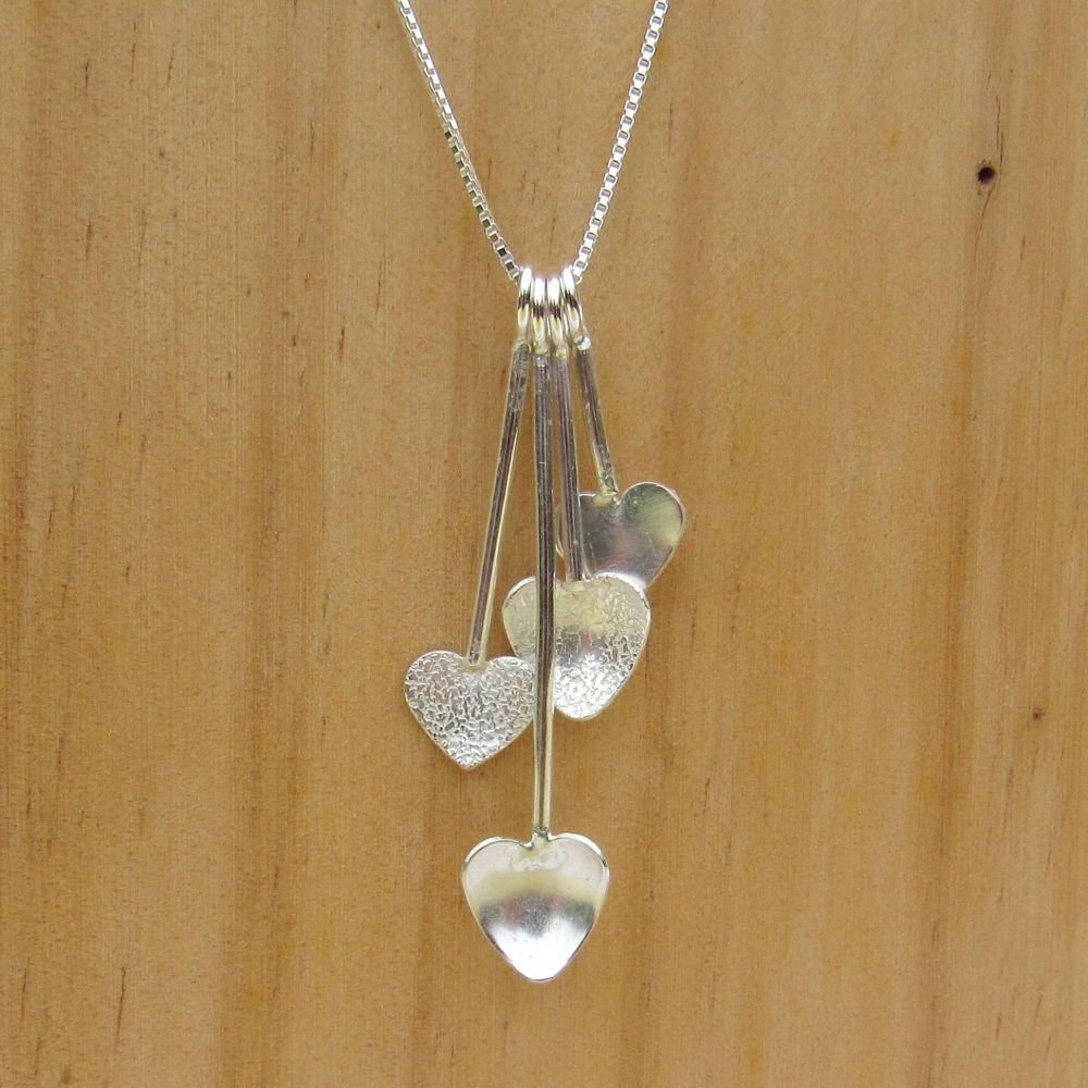 Hearts Cascade Necklace - JTAN2