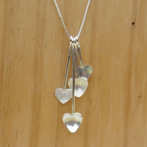 Hearts Cascade Necklace - JTAN2