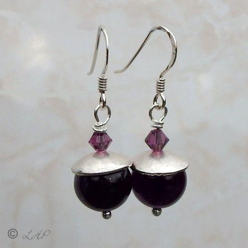 Amethyst Drop Earrings  - BCE10