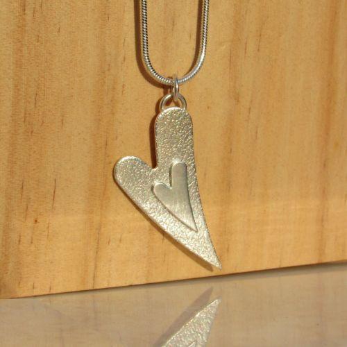 Sterling Silver Heart Pendant - JTAP16
