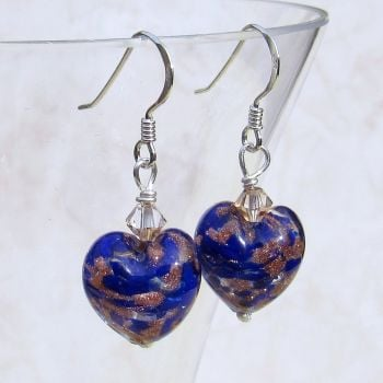 Blue Gold Murano Earrings - MGE10CoD