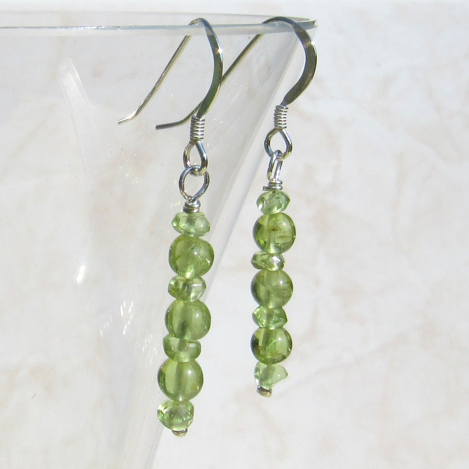 Silver Peridot Earrings - GCE2