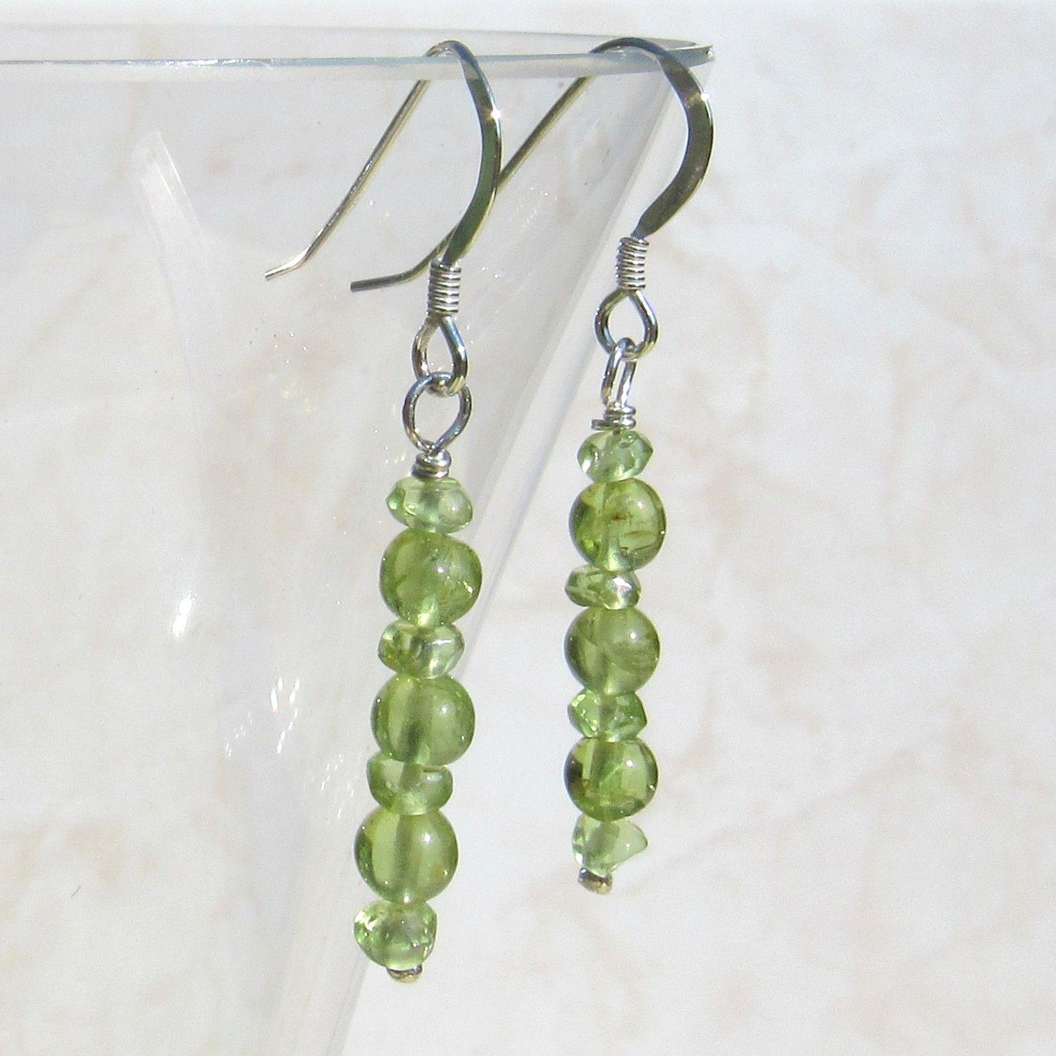 Silver Peridot Earrings - GCE2