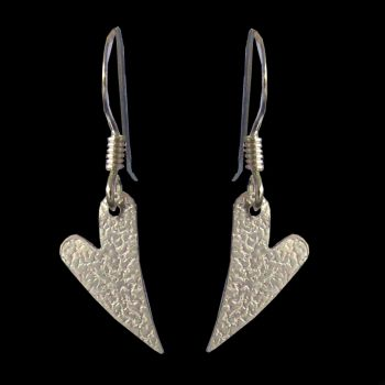 Sterling Silver Heart Earrings -JTAE16