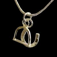 Silver Horseshoe and Stirrup Charm Necklace - HCP2H