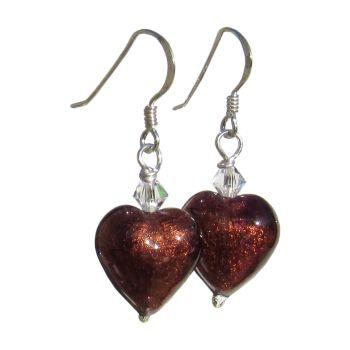 Dark Bronze Gold Foil Earrings - MGE11