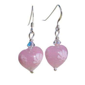 Pink Millefiori Murano Earrings - MGE9