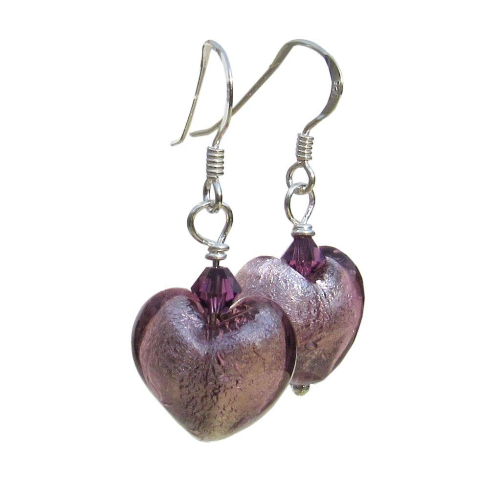 Light Amethyst Venetian Earrings - MGE1la