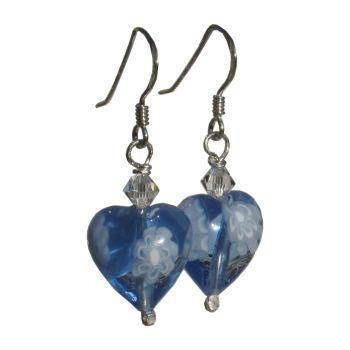 Blue Millefiori Earrings - MGE10m