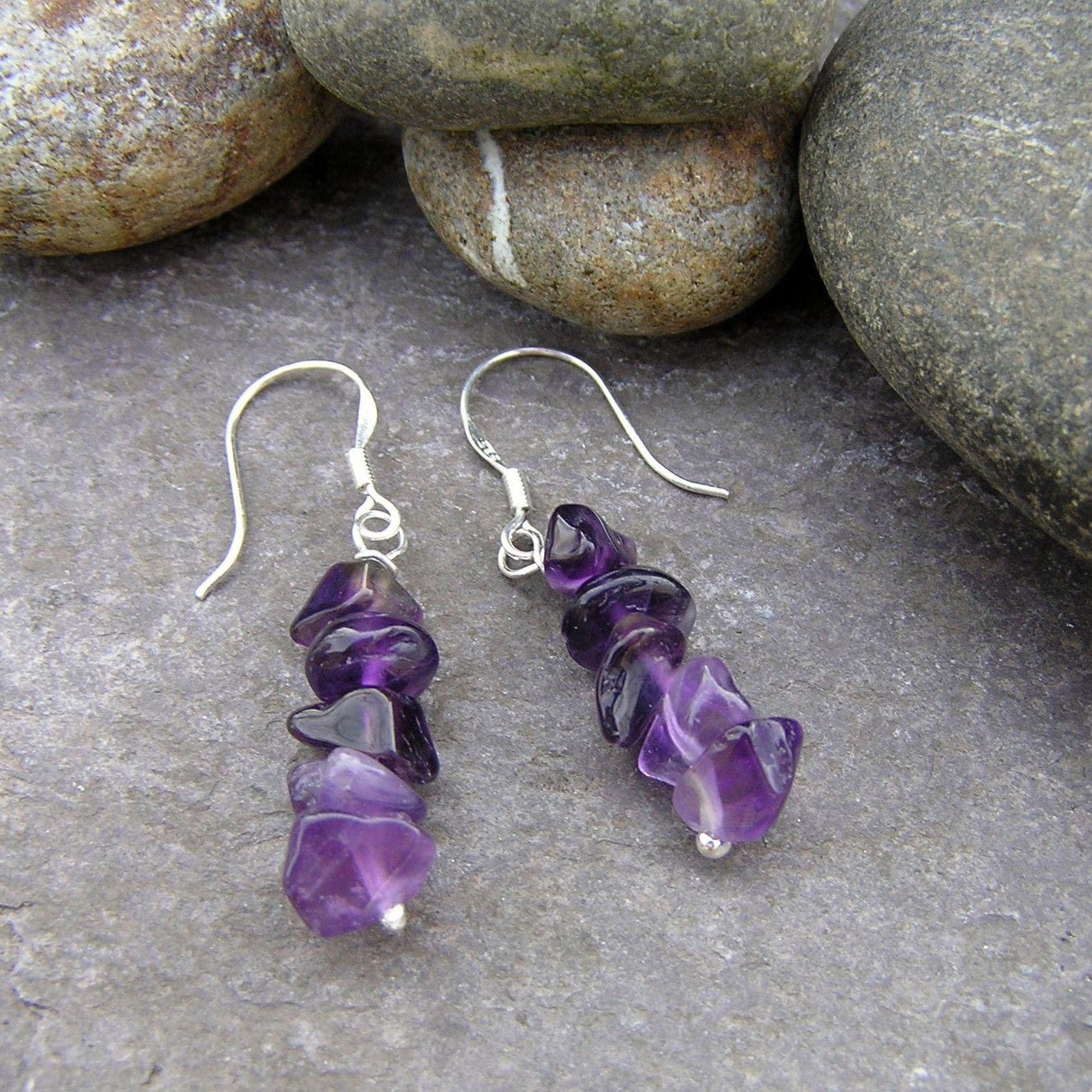Silver Amethyst Earrings - GCE3