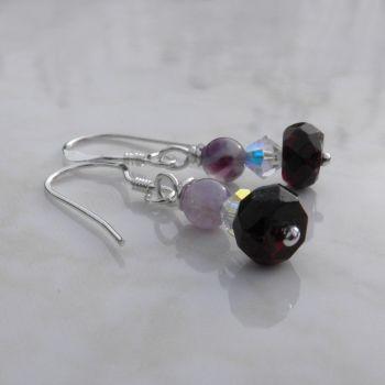 Silver Gemstone Earrings - BCE14