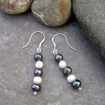 Silver Pearl Earrings - CCE6