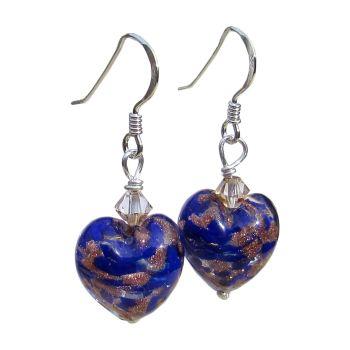Blue Gold Murano Earrings - MGE10CoD