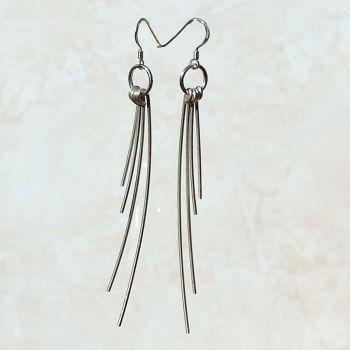"Dangle Drop Earrings  ""Moving Tendrils"" - SWCE5"