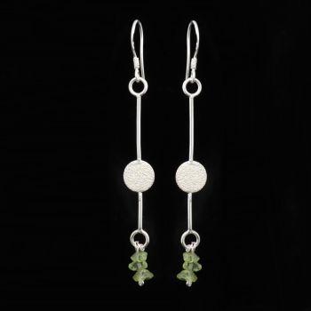Silver and Peridot Earrings - GCE11