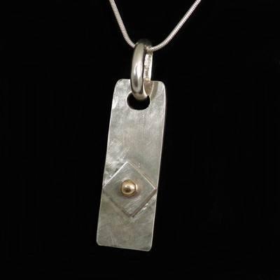Geometric  Pendant  Silver & Gold - DDP1