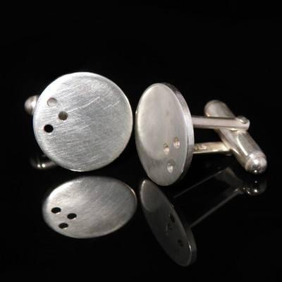 Silver Round Cufflinks - DDCL3